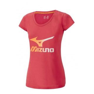 Mizuno T-shirt Big Logo Rose Outdoor Femme