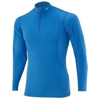 Mizuno T-shirt  Breath thermo col zippé Bleu Outdoor