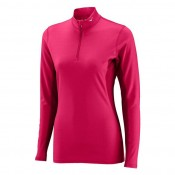 Mizuno T-shirt  Breath thermo col zippé Rose Outdoor