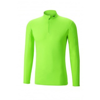 Mizuno T-shirt  Breath thermo col zippé Vert  Outdoor