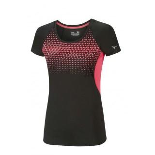 Mizuno T-shirt Cooltouch Phenix Noir / Rose Running Femme