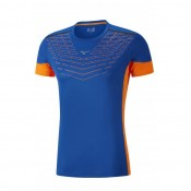 Mizuno T-shirt Cooltouch Venture Bleu / Orange Running  Homme