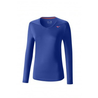 Mizuno T-shirt Core Bleu / Rose Running Femme