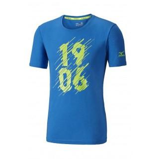 Mizuno T-shirt Heritage 1906 Bleu / Jaune Running/Training Homme