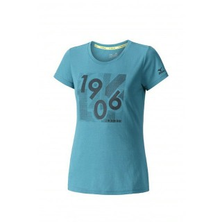 Mizuno T-shirt Heritage 1906 Bleu / Noir Running/Training Femme