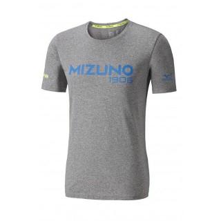 Mizuno T-shirt Heritage Bleu / Gris Running/Training Homme