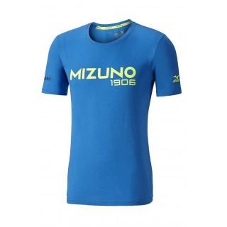 Mizuno T-shirt Heritage Bleu / Jaune Running/Training Homme