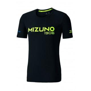 Mizuno T-shirt Heritage Jaune / Noir Running/Training Homme
