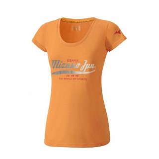 Mizuno T-shirt Heritage Orange Outdoor Femme