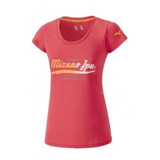 Mizuno T-shirt Heritage Rose Outdoor Femme