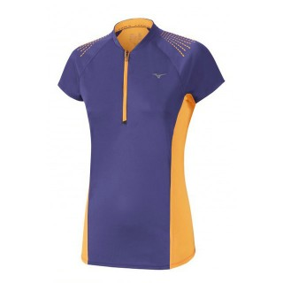 Mizuno T-shirt Mujin HZ Orange / Violet Trail Trail Femme