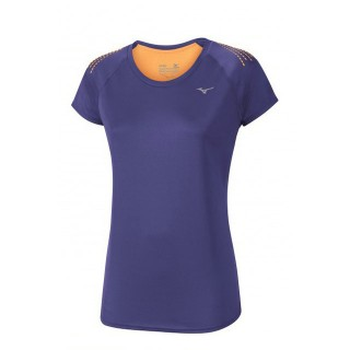 Mizuno T-shirt Mujin Tee Orange / Violet Trail Trail Femme