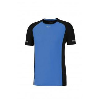 Mizuno T-shirt Premium Aero Bleu / Noir Running  Homme