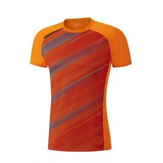 Mizuno T-shirt Premium Aero Gris / Orange Running  Homme