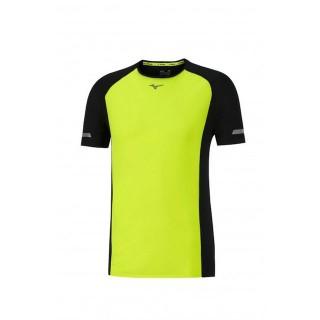 Mizuno T-shirt Premium Aero Jaune / Noir Running  Homme