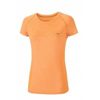 Mizuno T-shirt Tubular Helix Orange Running/Training Femme