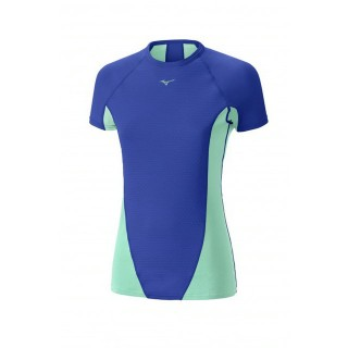 Mizuno T-shirt Virtual Body G1  Bleu / Vert  Outdoor