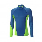 Mizuno T-shirt Virtual Body G1 col cheminée Bleu / Vert  Outdoor
