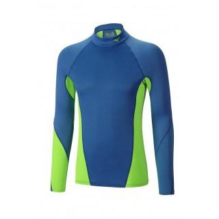 Mizuno T-shirt Virtual Body G1 col cheminée Bleu / Vert  Outdoor