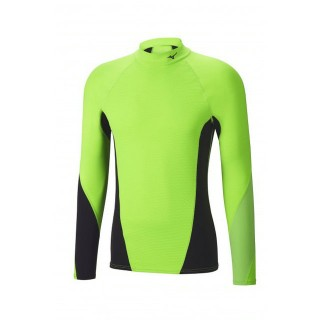 Mizuno T-shirt Virtual Body G1 col cheminée Noir / Vert  Outdoor