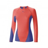 Mizuno T-shirt Virtual Body G1 col rond  Bleu / Rose Outdoor