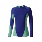 Mizuno T-shirt Virtual Body G1 col rond  Bleu / Vert  Outdoor