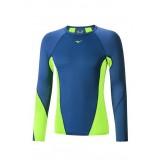 Mizuno T-shirt Virtual Body G1 col rond  Bleu / Vert  Outdoor