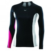 Mizuno T-shirt Virtual Body G1 col rond  Noir / Rose Outdoor