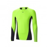 Mizuno T-shirt Virtual Body G1 col rond  Noir / Vert  Outdoor