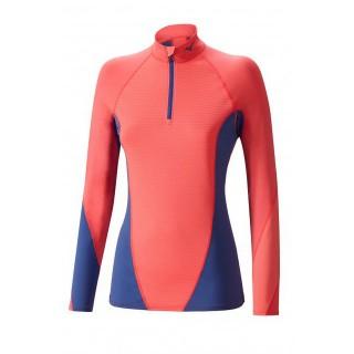 Mizuno T-shirt Virtual Body G1 col zippé Bleu / Rose Outdoor