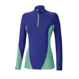 Mizuno T-shirt Virtual Body G1 col zippé Bleu / Vert  Outdoor