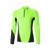 Mizuno T-shirt Virtual Body G1 col zippé Noir / Vert  Outdoor