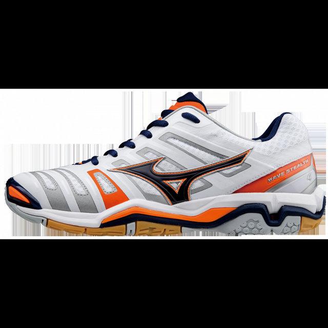 Chaussures Handball Mizuno Wave Stealth 4 Blanc Bleu