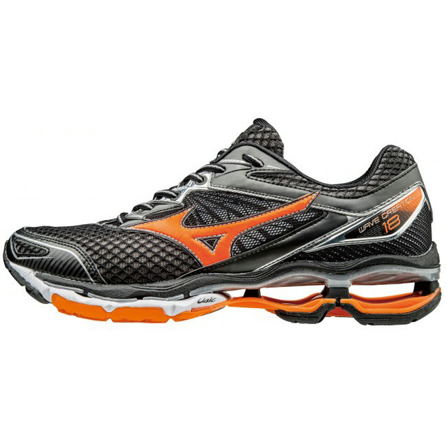 Chaussures Running Mizuno Wave Creation 18 Noir / Orange Homme