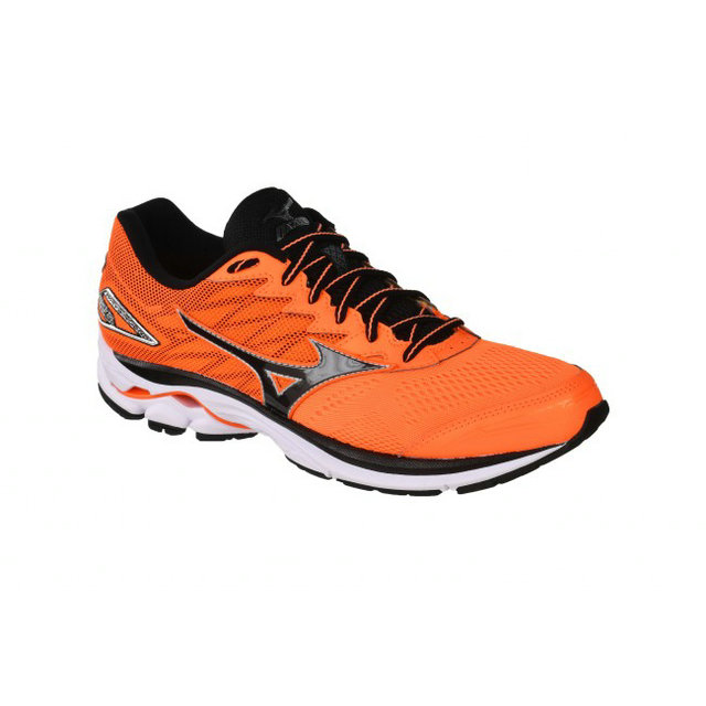 Chaussures Running Mizuno Wave Rider 20 ⋅ Noir & Orange Homme