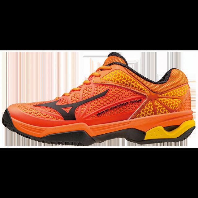 Chaussures Tennis Mizuno Wave Exceed Tour 2 Cc Noir Orange
