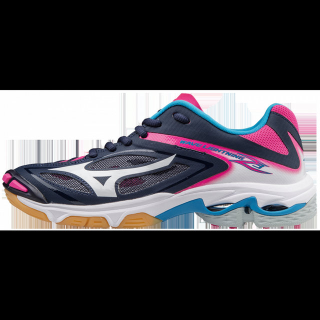 Chaussures Volley Mizuno Wave Lightning Z3  Blanc / Bleu / Rose Femme