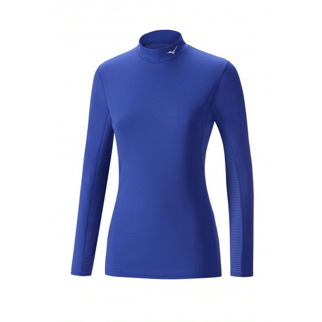 Mizuno T-shirt  Breath thermo col cheminée Bleu Outdoor
