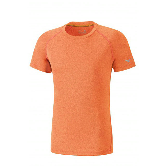 Mizuno T-shirt Inspire Orange Running/Training Homme