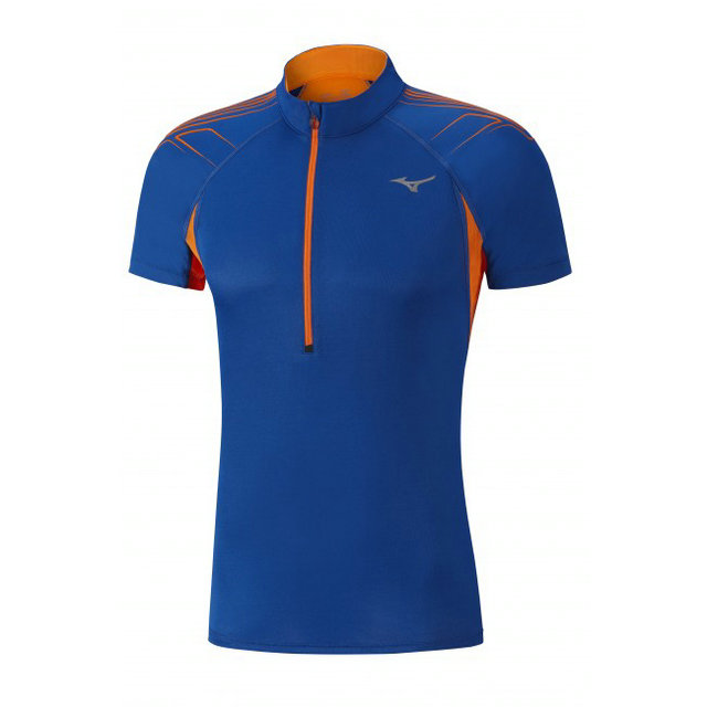 Mizuno T-shirt Mujin HZ Bleu / Orange Tennis Tennis Homme
