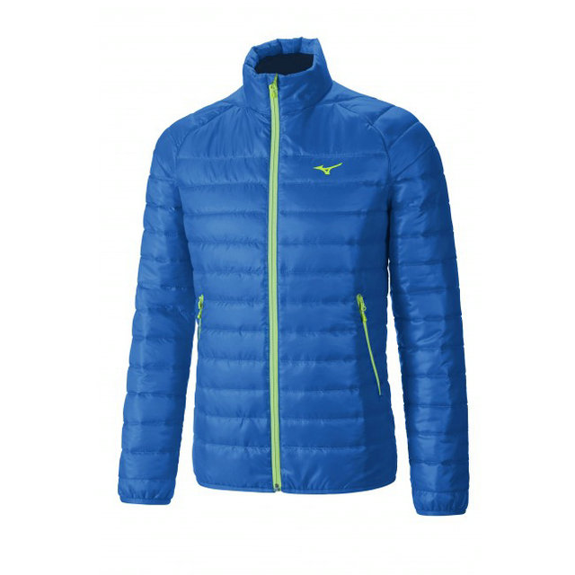 Mizuno Veste matelassée Breath Thermo Bleu / Vert  Outdoor