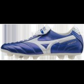 Chaussures Foot Mizuno Morelia MD II Blanc / Bleu Homme