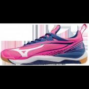 Chaussures Handball Mizuno Wave Mirage 2 Blanc / Bleu / Rose Femme