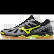 Chaussures Handball Mizuno Wave Phantom Gris / Jaune / Noir Homme