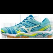 Chaussures Handball Mizuno Wave Stealth 4 Blanc / Bleu / Jaune Femme