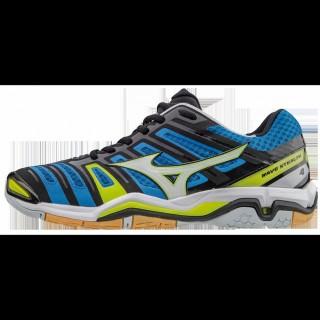 Chaussures Handball Mizuno Wave Stealth 4 Blanc / Bleu / Jaune Homme