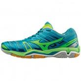 Chaussures Handball Mizuno Wave stealth 4 Bleu / Vert  Femme