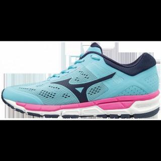 Chaussures Running Mizuno Mizuno Synchro MX 2 Bleu / Noir / Rose Femme