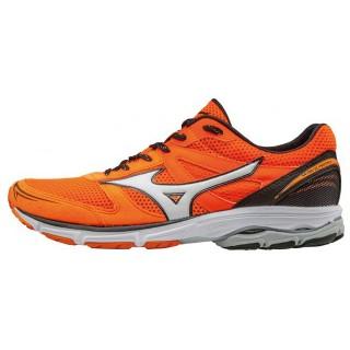 Chaussures Running Mizuno Wave Aero 15 Gris / Noir / Orange Homme