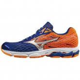 Chaussures Running Mizuno Wave Catalyst 2 Bleu / Orange Homme